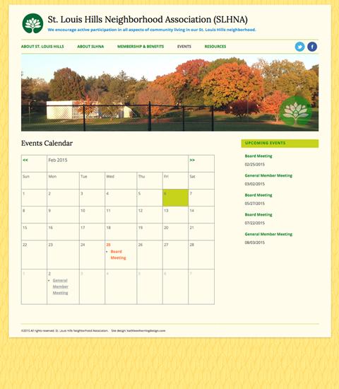 SLHNA Calendar